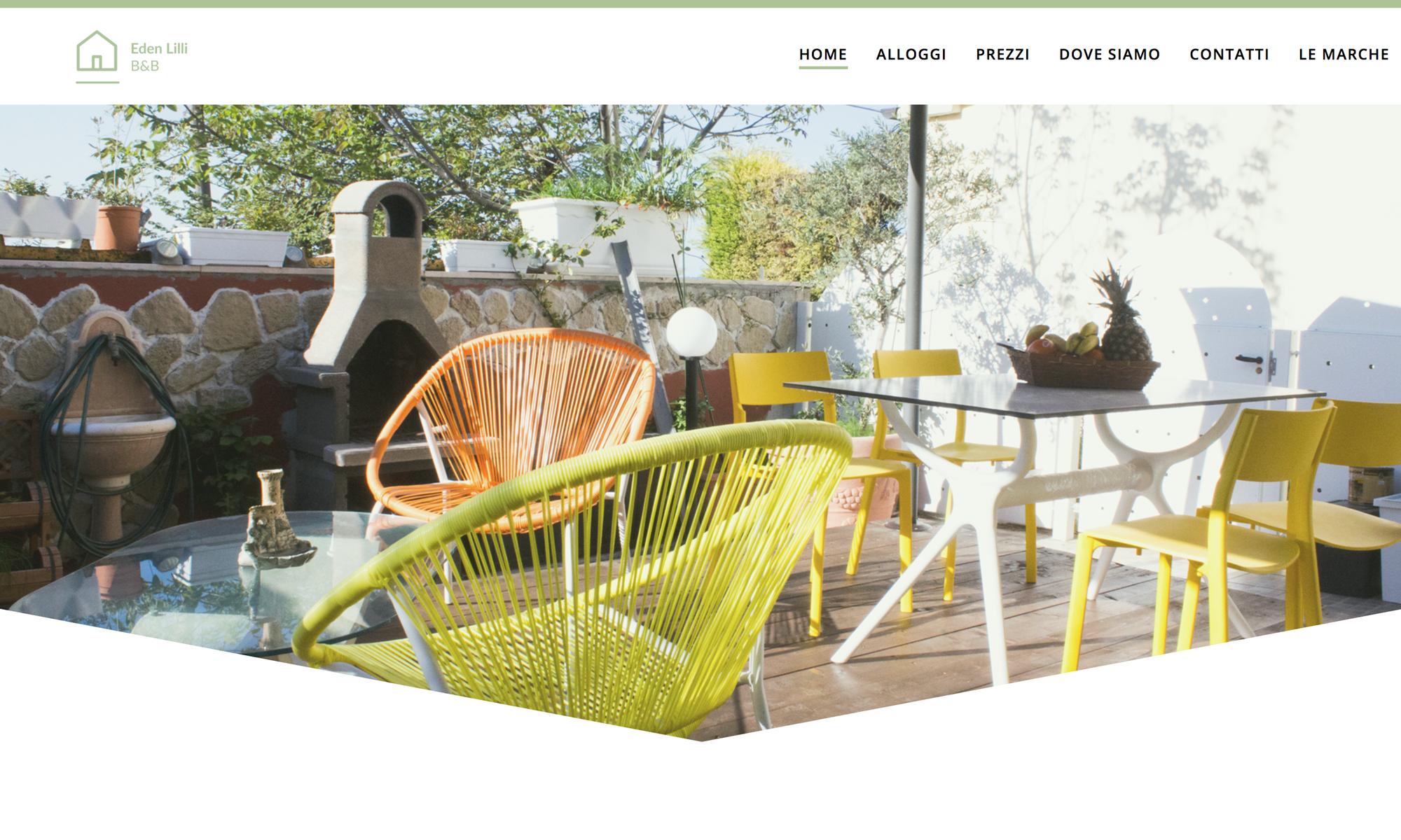 Web site design Eden Lilli B&B
