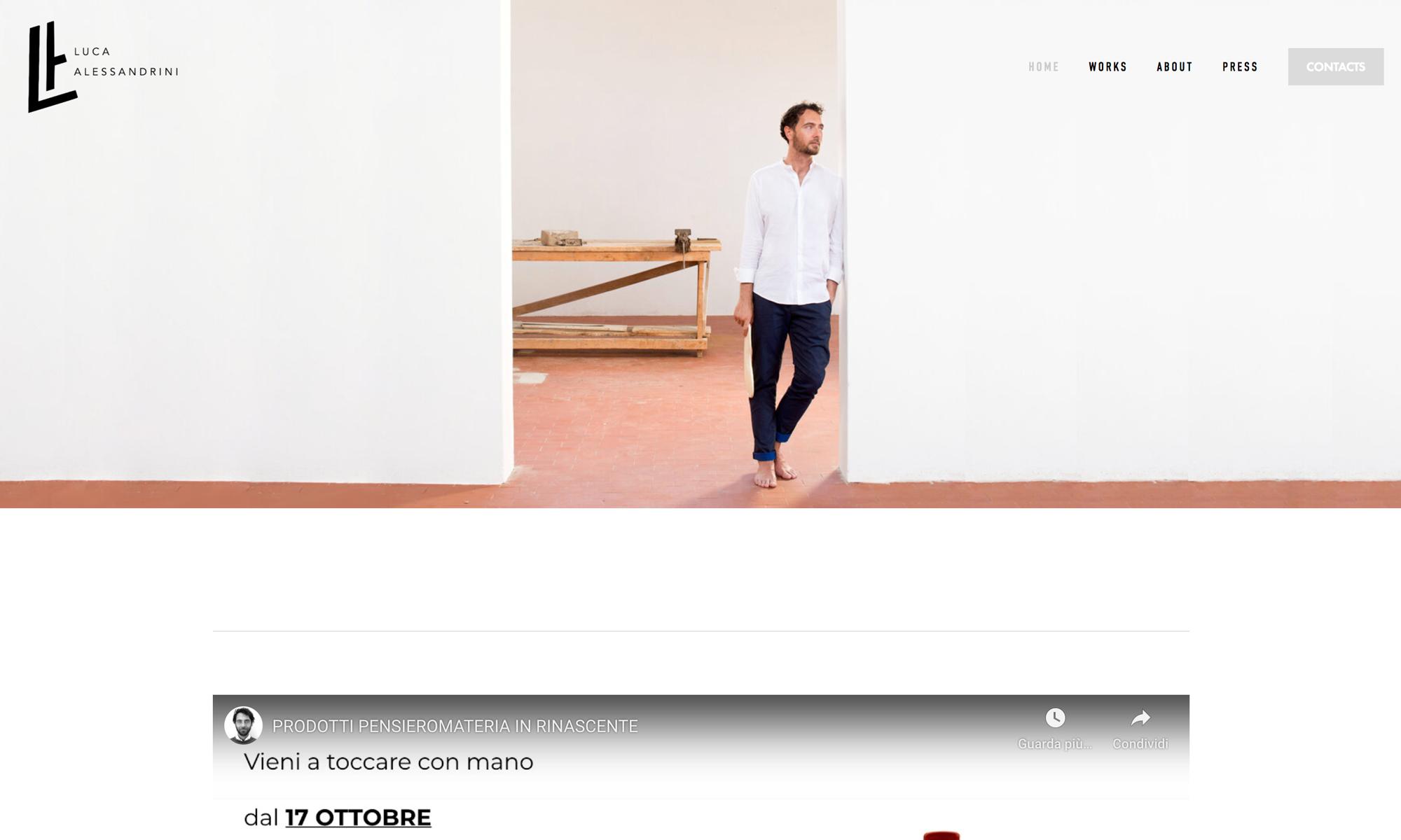 Restyling sito Luca Alessandrini Design Engineer