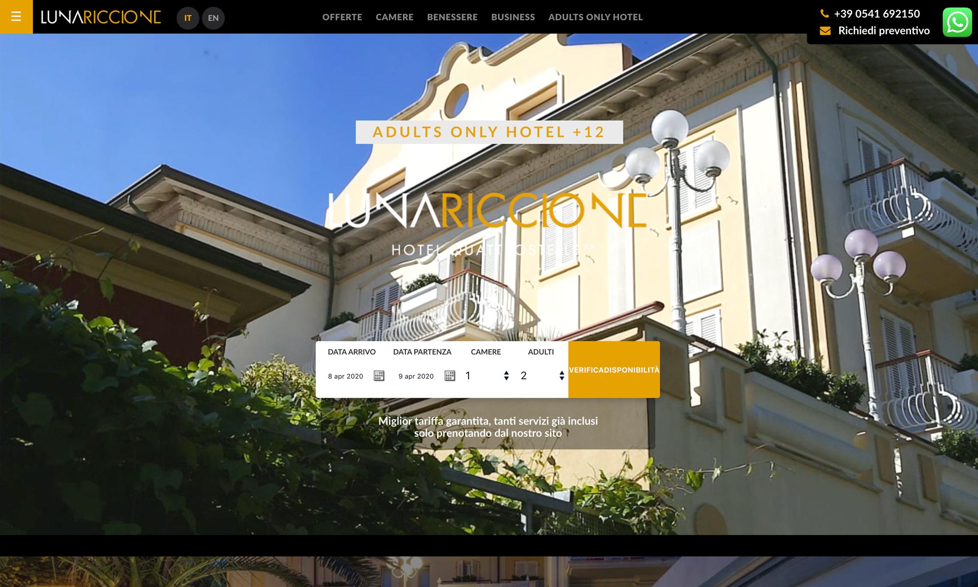 Manutenzione sito Hotel Lunariccione