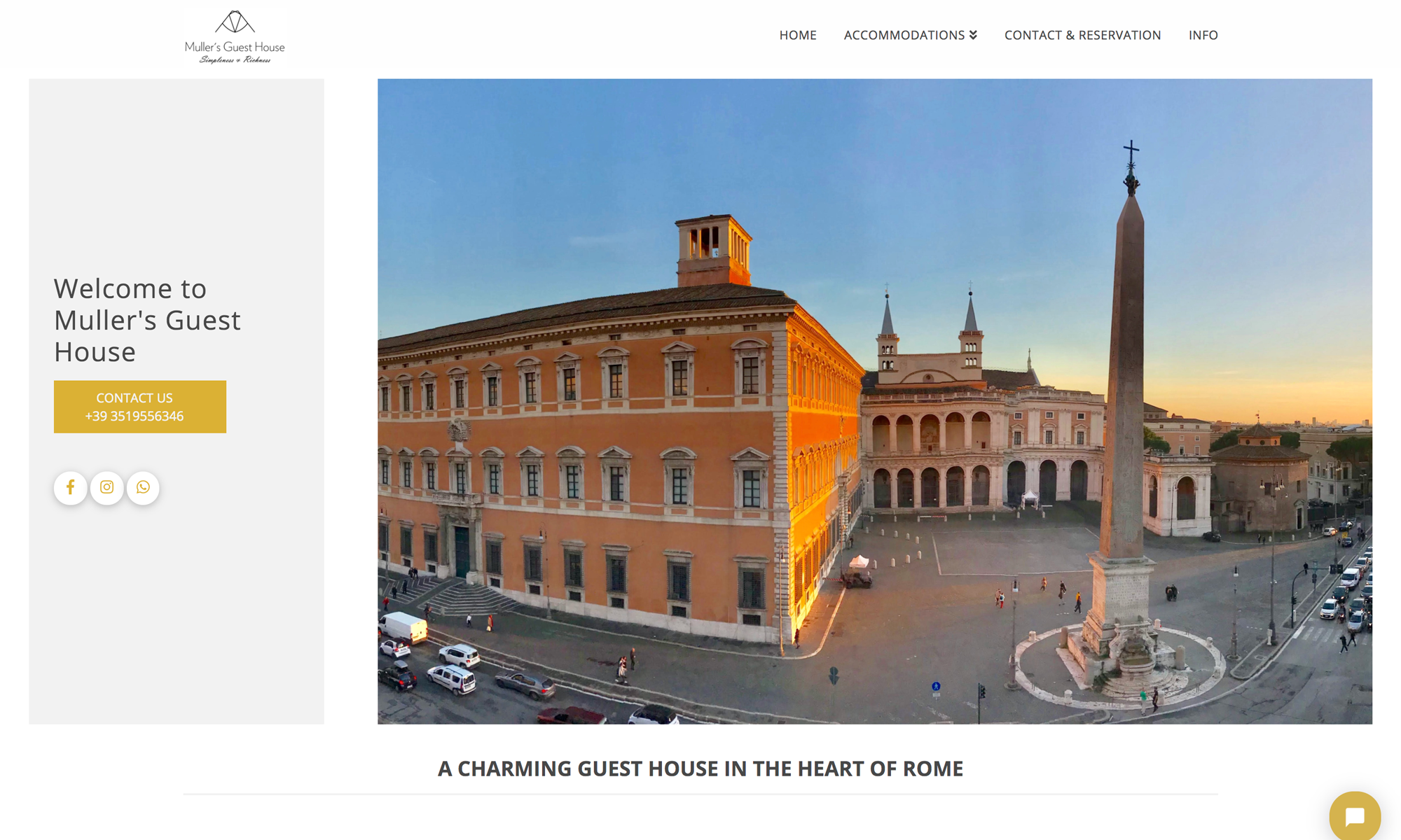Web site design Muller's Guest House