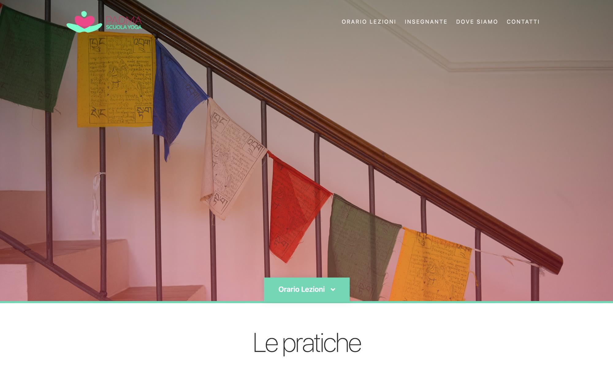 Web site design Padma scuola Yoga a Fano