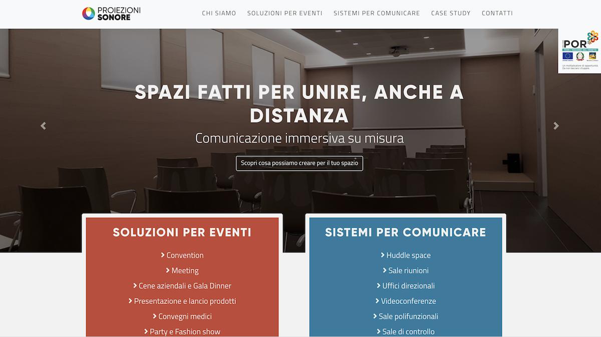 Web site design Proiezioni Sonore