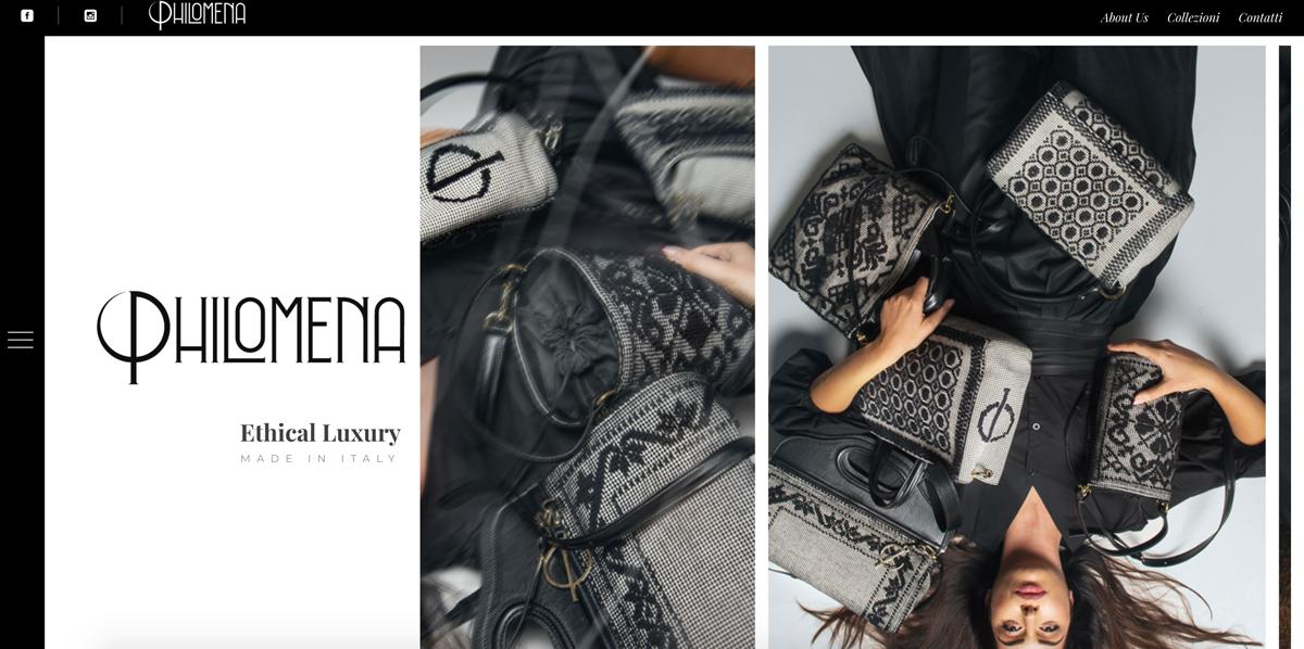 Creazione sito web moda Philomena