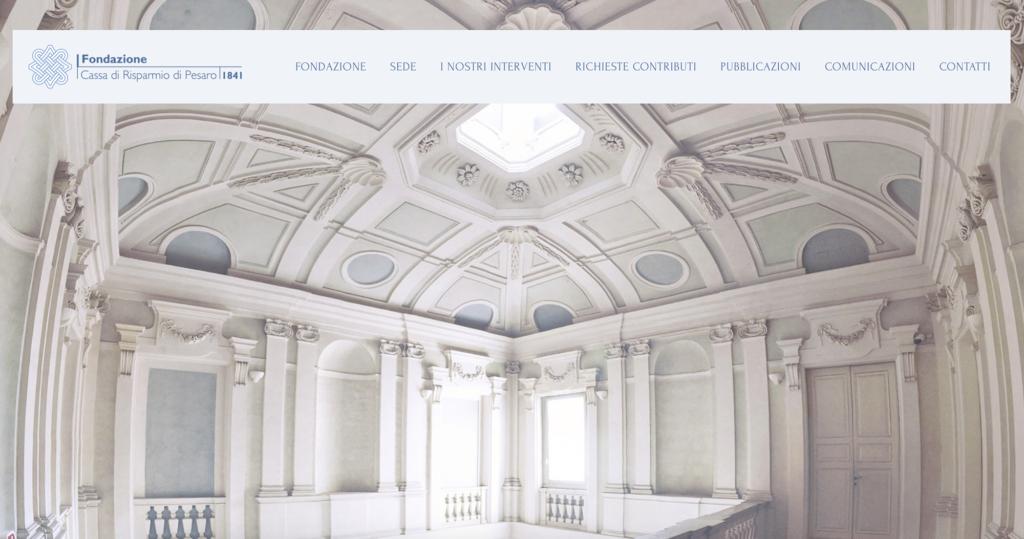 sito web fondazione cassa di risparmio di pesaro
