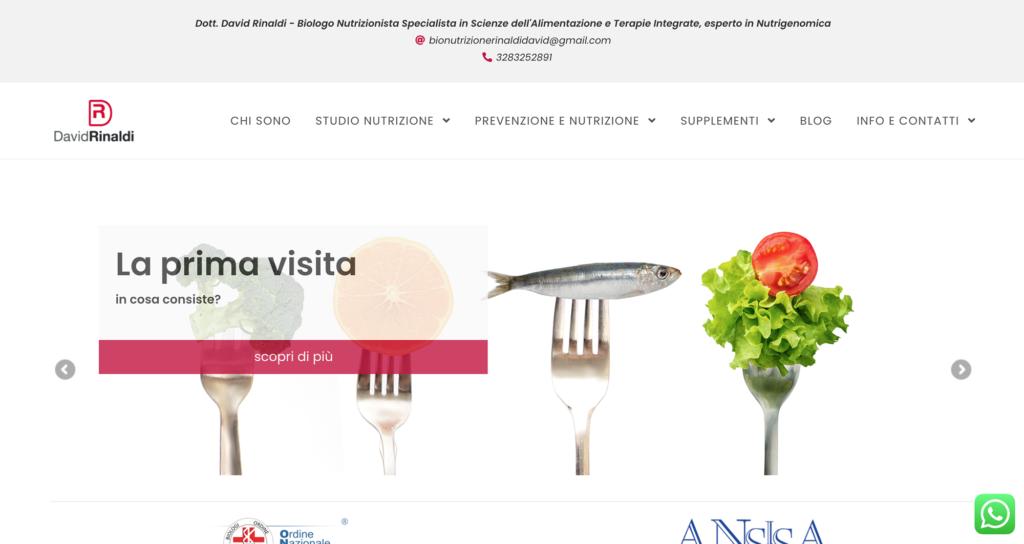 sito web nutrizionista rinaldi